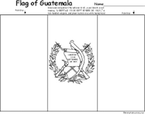 Flag Of Guatemala Printout Enchantedlearning Com Guatemala Flag Colouring Pages Page 2