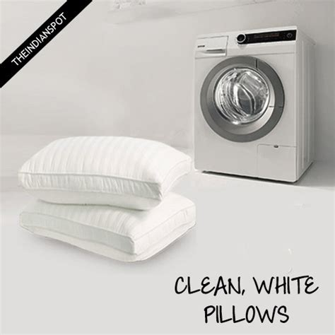 Can You Wash Pillows In Washing Machine by Wash And Whiten Pillows In Washing Machine Theindianspot