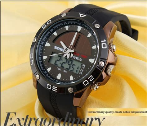 Jam Arloji Skmei Solar Power jual jam tangan skmei original casio solar power anti air
