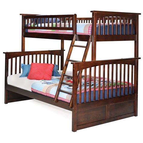 atlantic furniture columbia twin  full bunk bed  walnut ab