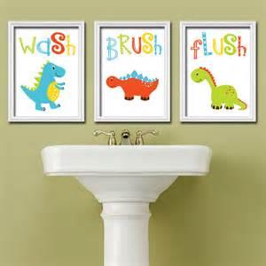 Bathroom Pictures Etsy Dinosaur Bathroom Wall Dinosaur Theme Bathroom Canvas
