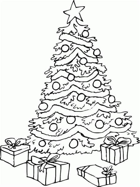 tree coloring page pdf printable free colouring sheets christmas tree for