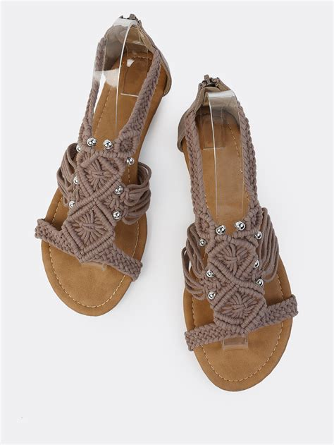 knitted sandals crochet knit bead sandals taupe knitting crochet dıy