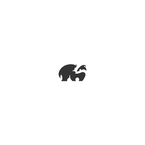 delightful animal logos cleverly created with negative