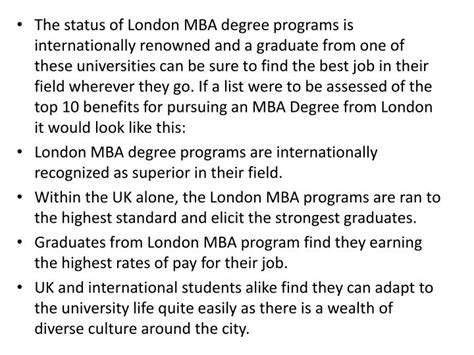 Mba Benefits In by Ppt Benefits Of Studying Mba In Powerpoint