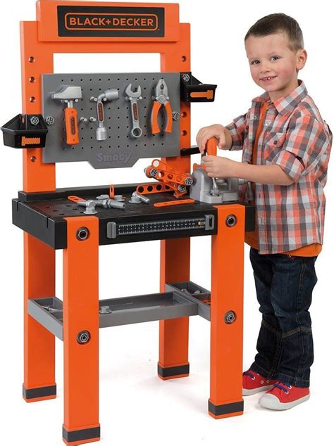 black and decker tool bench toy smoby black and decker bricolo one childrens toy workbench
