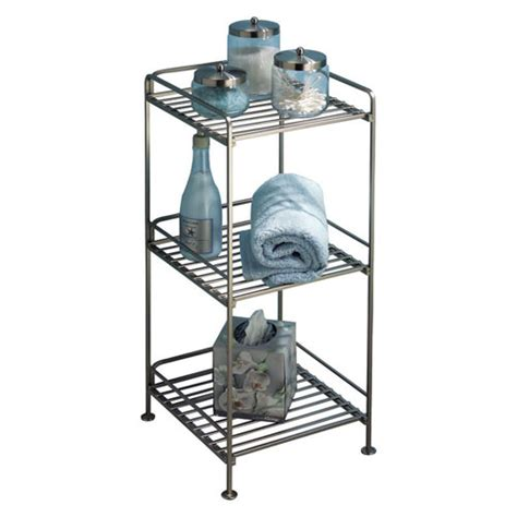 free standing bathroom shelving three tier shelving unit in free standing bath shelves