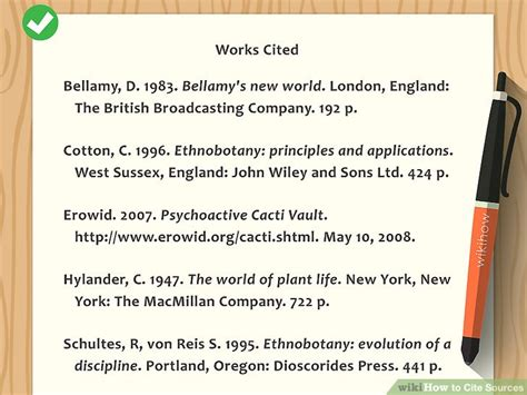 how do you cite your sources in a research paper how to cite sources with sle citations wikihow