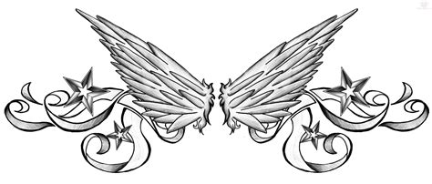 lower back wing tattoo designs nautical and wings lowerback design