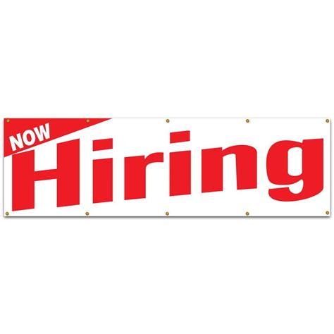 lynch sign  ft   ft red  white vinyl  hiring