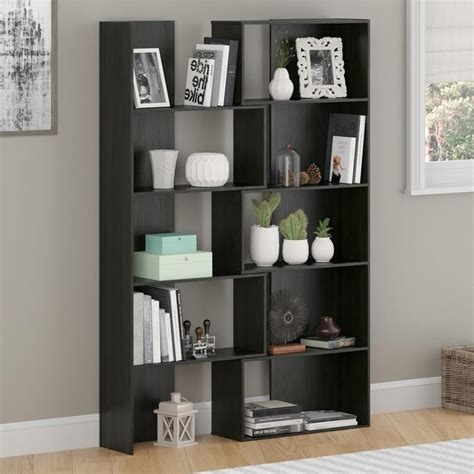 expandable bookcase in midnight onyx 9645325pcom