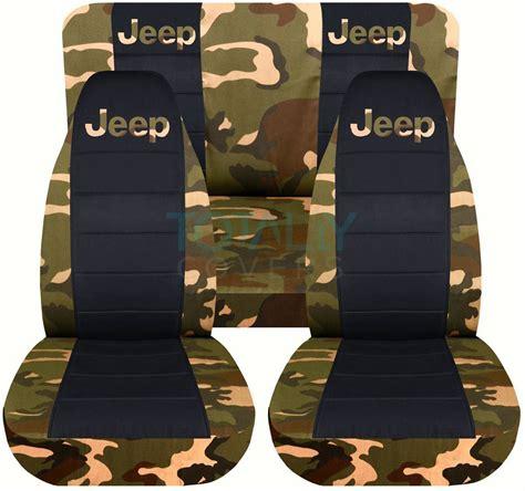 green camo jeep jeep wrangler yj tj jk 1987 2017 camo black seat covers