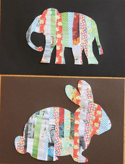 Paper Craft Classes - crafting with children paper animal silhouettes