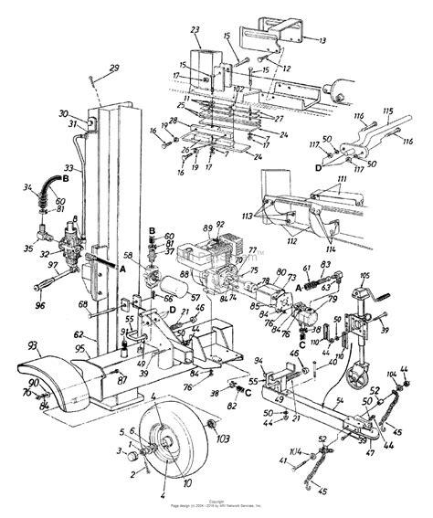 ton diagram glamorous log splitter parts diagram images best image