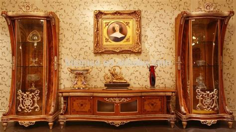 luxurious wooden carving showcase cabinet using clear luxury french rococo style tv stand fantacy vivid hand