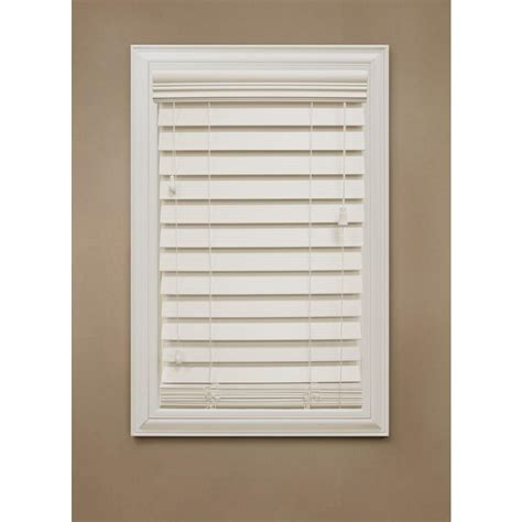 home decorators faux wood blinds home decorators collection ivory 2 1 2 in premium faux