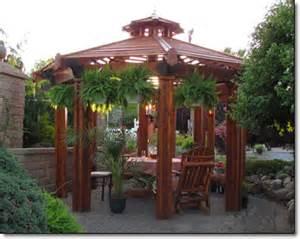 Octagonal Pergola by Amish Gazebo Shop Rustic Cedar Octagonal
