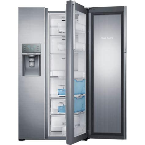 samsung side by side door refrigerator samsung rh29h9000sr aa 28 5 cuft side by side refrigerator