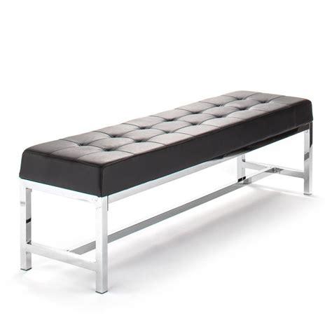 panca seduta panca imbottita timothy design in ecopelle nera 150 cm