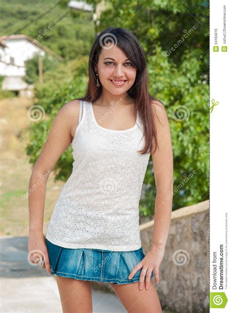 young girl short dress stock photos images pictures young girl in short skirt in the sun royalty free stock