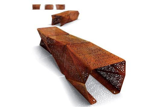 galvanized pipe bench galvanized steel bench zadig by lab23 design st 233 phane chapelet