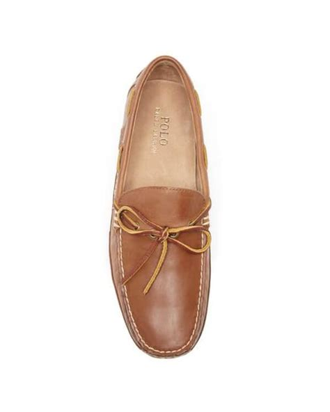 polo ralph wyndings slip on loafers polo ralph s wyndings leather loafers in brown