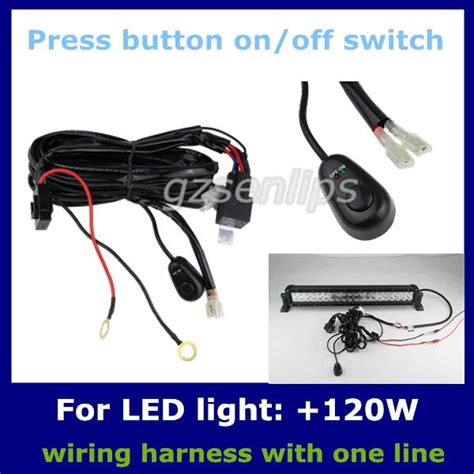 2017 auto wiring harness kit led hid light bar wire switch