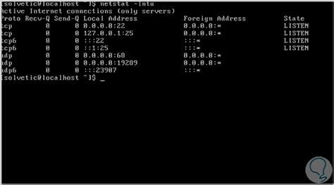 tutorial netstat linux ver puertos abiertos comando netstat windows y linux