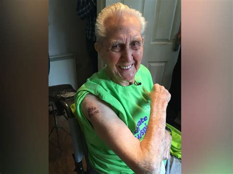how old to get a tattoo 104 year great world s oldest person to