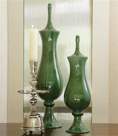 global views home decor global views tower jar emerald