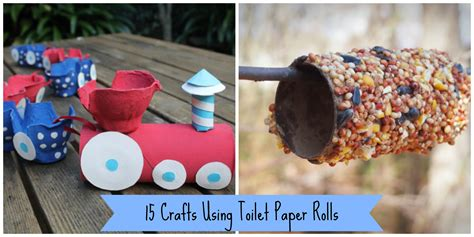Paper Rolls Crafts - 15 crafts using toilet paper rolls