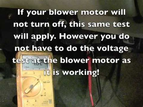 how to test a gm blower motor resistor 2005 chevrolet tahoe blower not working