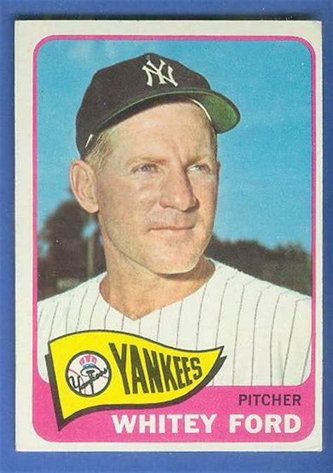 Baseball Gift Card - 1965 topps 330 whitey ford yankees