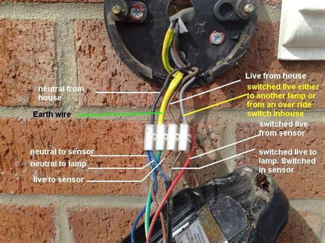 wiring for a new pir light diynot forums