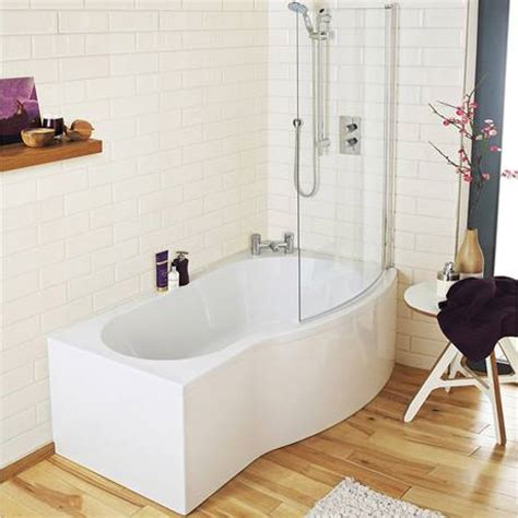 1500mm shower bath premier 1500mm b shaped shower bath with acrylic front panel screen
