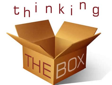 Think Out The Box thinking outside the box is thinking inside the box