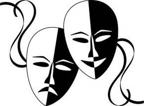 Drama Mask Clip Art sketch template