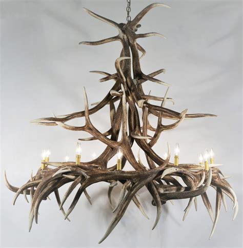 elk antler chandeliers elk antler chandelier 12 light