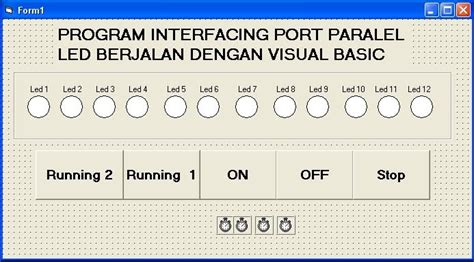 membuat paralel lu led rojear info blogspot com membuat program port paralel led