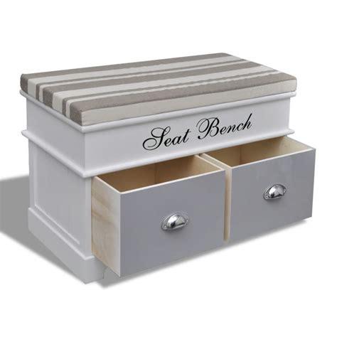 banc tiroir la boutique en ligne banc de rangement avec 2 tiroirs coussin inclus vidaxl fr