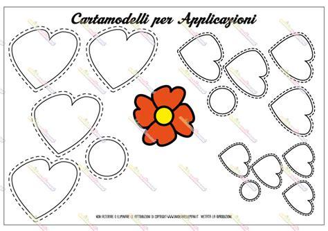 fiore a forma di cuore sagoma fiore sagome utili per realizzare un fiore di carta da