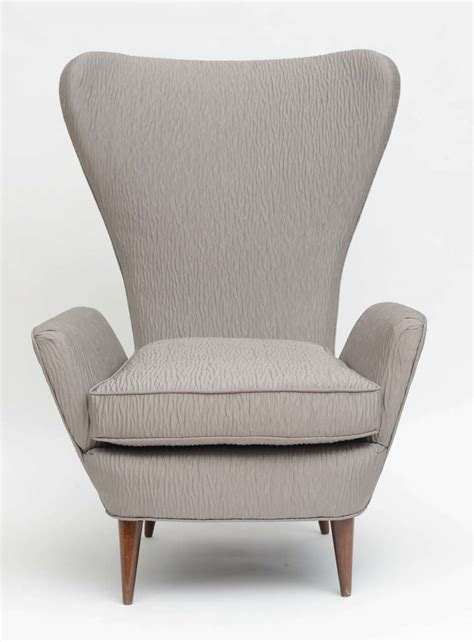 high backed armchairs italian modern high back armchair italy at 1stdibs