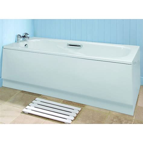 bathtub front panel wickes bath front panel white 1690mm wickes co uk