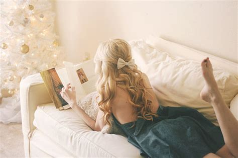 wavy couch blonde book bright christmas tree couch image