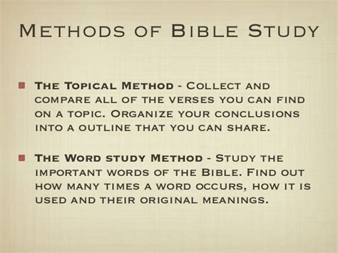 Studying The Bible For Spiritual Growth Part 5 Topical Bible Study Template