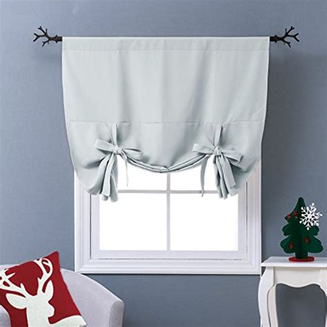tie up blackout curtains nicetown thermal insulated blackout curtain tie up shade