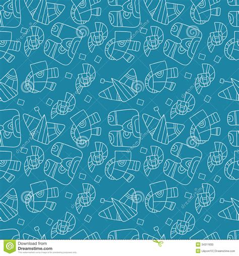 design pattern for web page seamless abstract pattern on a blue background stock photo