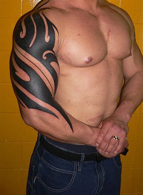 big tribal tattoos for mens sleeve tattoos