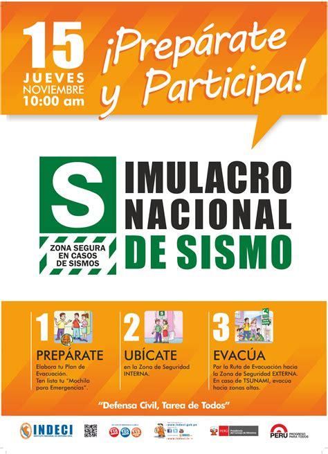afiches de un sismo defensa civil