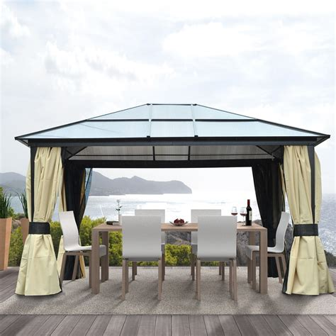 Pavillon Alu 3x4 by Outsunny Luxus Pavillon Aosom De